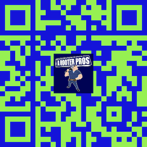 qr code for A Rooter Pros Google review